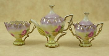 Dollhouse Miniature Reproduction of R.S. Prussia tea set