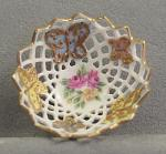 Pierced Bowl With Roses and Butterflies